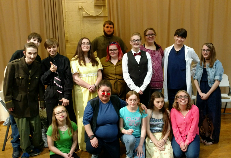Members of the Georgetown Ridge Farm High School Drama Club